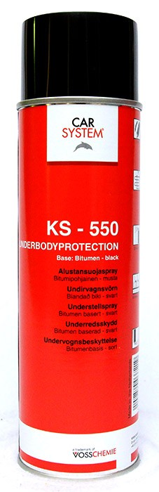 Car System KS-550 alustaspray, musta 400ml