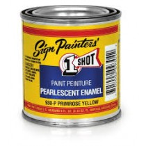 """1 SHOT LETTERING PEARLESCENT ENAMEL """" BRIGHT RED"""" 236ML"""